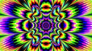 Превью обои фрактал, калейдоскоп, абстракция, яркий, оптическая иллюзия