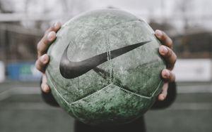 Превью обои футбольный мяч, мяч, футбол, спорт