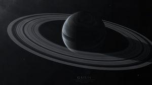 Превью обои gailis, планета, кольца, звезды, космос, пространство