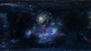 Превью обои галактика, космос, пространство, звезды