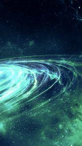 Превью обои галактика, свечение, спираль, звезды, космос