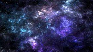 Превью обои галактика, звезды, туманность, сгустки