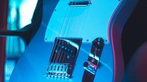 Превью обои гитара, электронная, музыкальный инструмент, неон