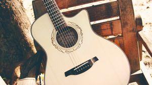 Превью обои гитара, струны, музыкальный инструмент