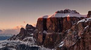 Превью обои горы, снег, вершина