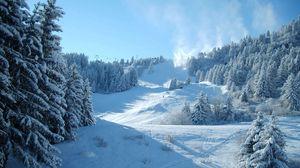 Превью обои горы, снег, зима