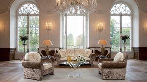 Превью обои гостиная, зал, люстра, мебель, винтажный, интерьер, дизайн