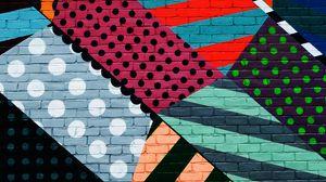 Превью обои граффити, стена, красочный, разноцветный, абстрактный