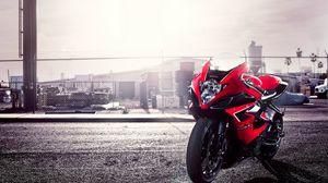 Превью обои gsx-r, сузуки, motorcycle, suzuki, красный, 1000