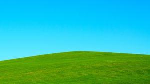 Превью обои холм, газон, небо, минимализм