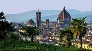 Превью обои италия, флоренция, тоскана, купол, пальмы