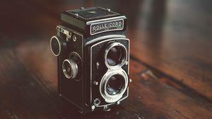 Превью обои камера, старый, винтаж, линзы, фотография