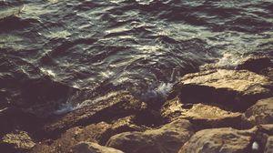 Превью обои камни, море, волны