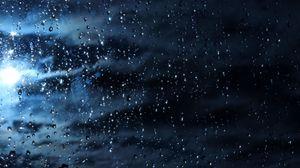 Превью обои капли, стекло, дождь, влага, поверхность