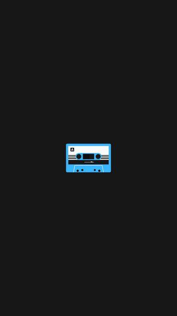 360x640 Обои кассета, арт, вектор, минимализм