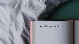 Превью обои книга, надпись, постель