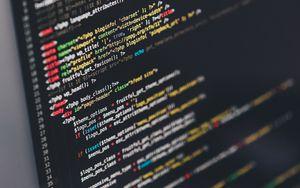 Превью обои код, программирование, текст, технологии