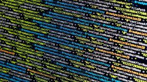 Превью обои код, символы, программирование, строки, яркий