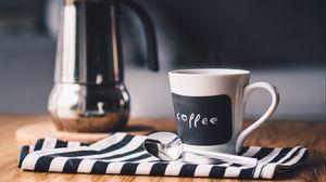 Превью обои кофе, чашка, чайник