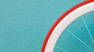 Превью обои колесо, стена, минимализм, спица, шина