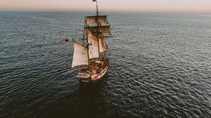 Превью обои корабль, паруса, океана