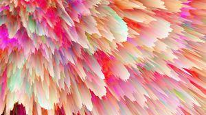 Превью обои космический взрыв, яркий, стекает, формы, объем
