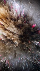 Превью обои космический взрыв, линии, формы, объем, заостренный, блеск