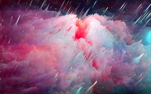 Превью обои космос, арт, туманность, вселенная