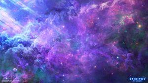 Превью обои космос, яркий, небо, блеск