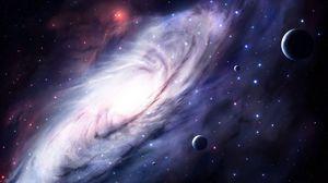Превью обои космос, небо, 3d, арт