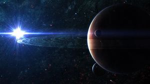 Превью обои космос, планета, небо