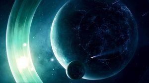Превью обои космос, планета, свет