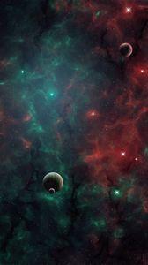 Превью обои космос, планеты, вселенная, галактика, открытый космос, арт