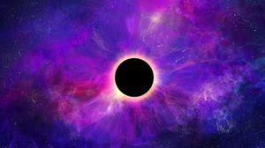 Превью обои космос, шар, планета, темный, космический, арт