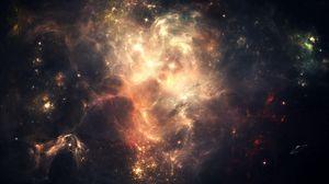 Превью обои космос, звезды, небо, темный