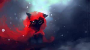 Превью обои кот, рисунок, art, apofiss