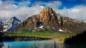 Превью обои красивый пейзаж, горы, озеро, природа