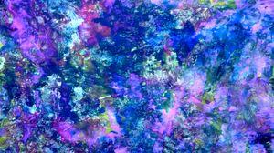 Превью обои краски, разводы, разноцветный, холст