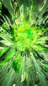 Превью обои кристаллы, осколки, взрыв, свет
