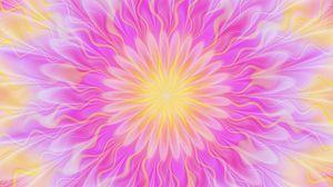 Превью обои круг, яркий, розовый, узоры