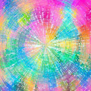 Превью обои круги, разноцветные, стрелки, вращение