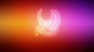 Превью обои крылья, покемон, птица, ho oh