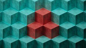 Превью обои куб, кубы, формы, рельеф