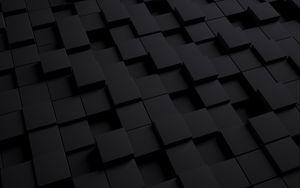 Превью обои куб, темный, текстура, формы