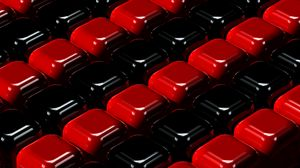 Превью обои кубы, красный, черный, 3d