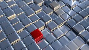 Превью обои кубы, метал, пространство, моделирование