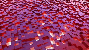 Превью обои кубы, структура, 3d, красный