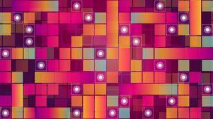 Превью обои квадраты, круги, разноцветный, узоры, текстура