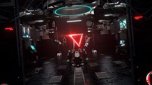Превью обои лаборатория, sci-fi, механизм, устройство, свет