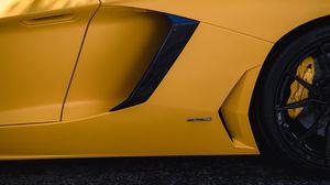 Превью обои lamborghini, автомобиль, колесо, шина, желтый